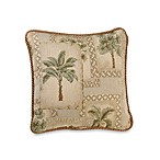 Palm Grove 18-Inch Square Toss Pillow