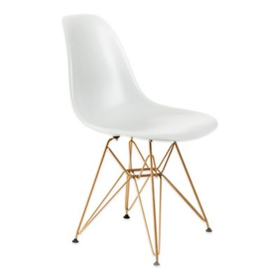 Banks Dining Chair in White/Gold