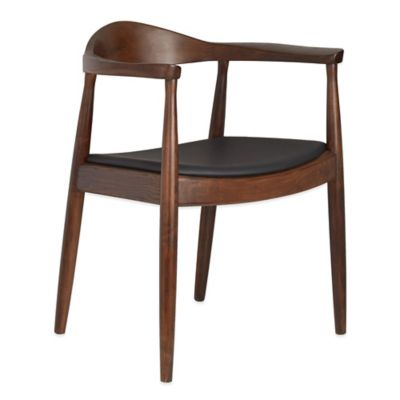 American Atelier Dining Armchair in Dark Brown/Black