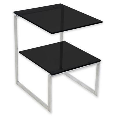 LumiSource 6G Side Table with Black Glass
