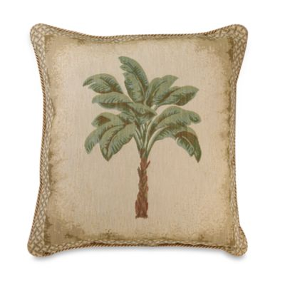 Palm Grove 18-Inch European Square Pillow