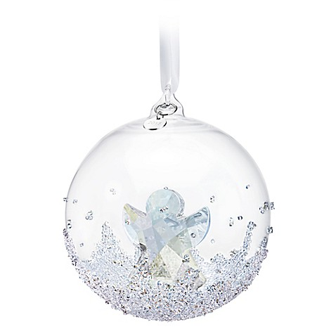 Swarovski annual edition 2015 ball ornament bed bath for Crystal baubles christmas