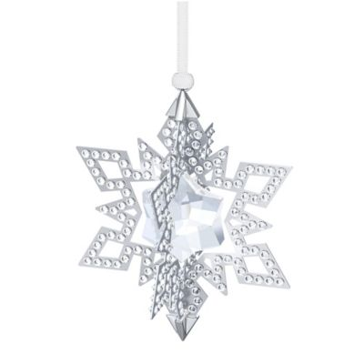 Swarovski® Star Ornament in Silver