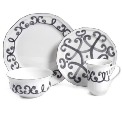 Mikasa® Antique White Scroll 4-Piece Place Setting