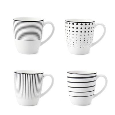 Mikasa® Cheers White Mugs (Set of 4)