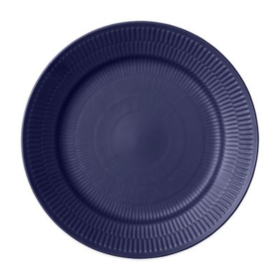 Fluted Dinner Plate in Blue