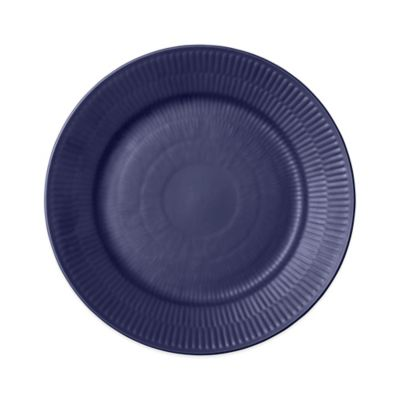 Fluted Salad Plate in Blue