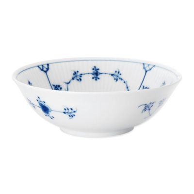 Royal Copenhagen Fluted Plain Cereal Bowl in Blue