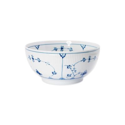 Fluted Plain 1 qt Bowl in Blue