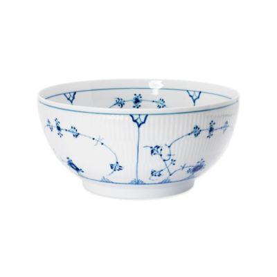 Royal Copenhagen Fluted Plain 1.75 qt. Bowl in Blue