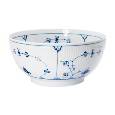 Royal Copenhagen Fluted Plain 3-1/4 qt. Bowl in Blue