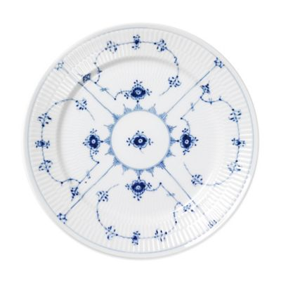 Royal Copenhagen Fluted Plain Dessert Plate in Blue