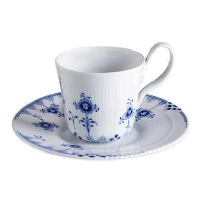 Royal Copenhagen Elements High Handle Cup and Saucer in Blue