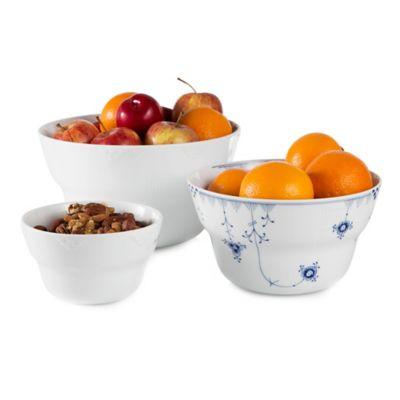 Royal Copenhagen Elements 3-Piece Serving Bowl Set in White
