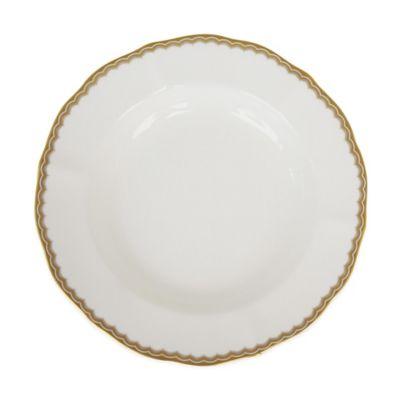 P by Prouna Antique Gold Rim Soup Bowl