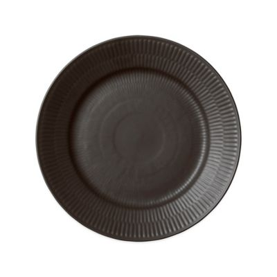 Fluted Salad Plate in Black