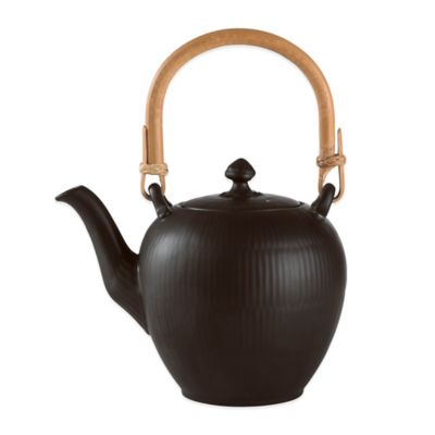 Royal Copenhagen Fluted Teapot in Black
