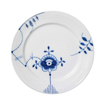 Royal Copenhagen Fluted Mega Dinner Plate #2 in Blue