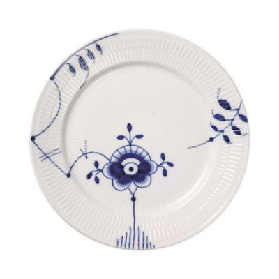 Royal Copenhagen Fluted Mega Dinner Plate #6 in Blue