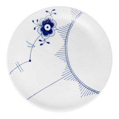 Royal Copenhagen Fluted Mega Coupe Dinner Plate in Blue