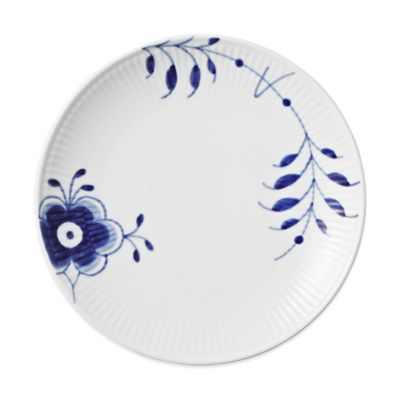 Royal Copenhagen Fluted Mega Coupe Bread and Butter Plate in Blue