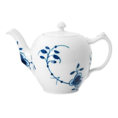 Royal Copenhagen Fluted Mega Teapot in Blue