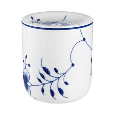 Royal Copenhagen Fluted Mega Medium Storage Jar in Blue