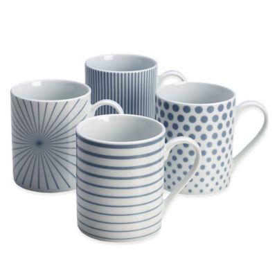 Mikasa® Cheers Mugs in Blue (Set of 4)