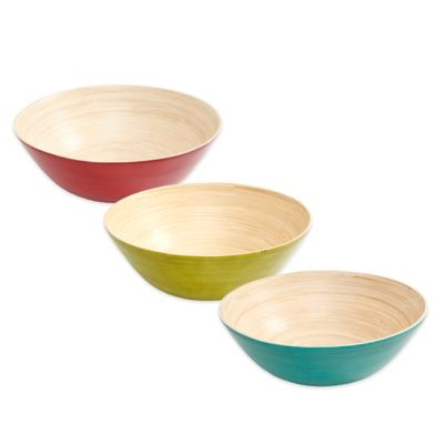 Bamboo Bowl in Green