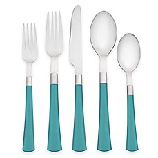 Noritake® Colorwave 20-Piece Flatware Set in Turquoise