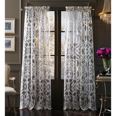 Tango 63-Inch Sheer Window Panel in White