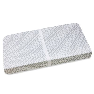 Wendy Bellissimo™ Mix & Match Geo Print Changing Pad Cover in Grey