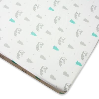Wendy Bellissimo™ Mix & Match Fox Fitted Crib Sheet in Grey