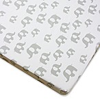 Wendy Bellissimo™ Mix & Match Elephant Fitted Crib Sheet in Grey