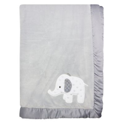 Wendy Bellissimo™ Mix & Match Elephant Applique Plush Blanket in Grey
