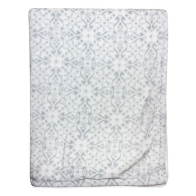Wendy Bellissimo™ Mix & Match Damask Plush Blanket in Grey