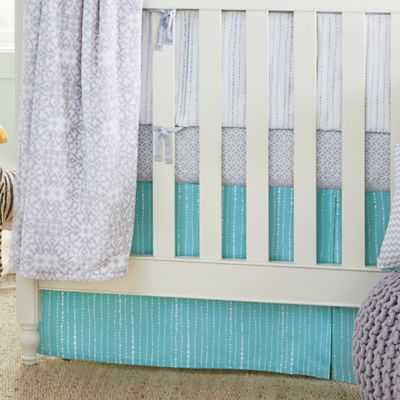 Teal Crib Skirt