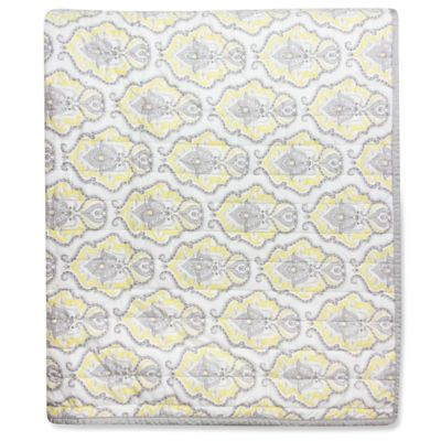 Wendy Bellissimo™ Mix & Match Damask Quilt in Yellow