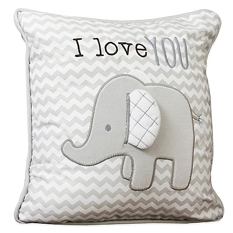 Crib Bedding Sets > Wendy Bellissimo Mix & Match Elephant Chevron Throw Pillow from Buy Buy Baby
