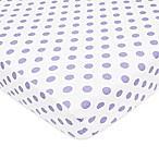 TL Care® Cotton Percale Polka Dot Fitted Crib Sheet in Lavender