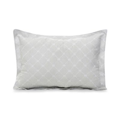 Glenna Jean Starlight Large Pillow Sham in Grey