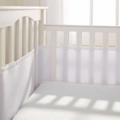 BreathableBaby® Deluxe Breathable Mesh Crib Liner in White