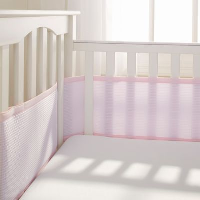 BreathableBaby® Deluxe Breathable Mesh Crib Liner in Pink