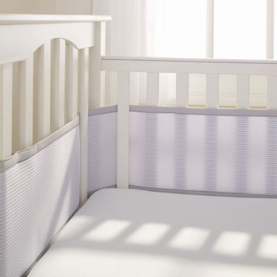 BreathableBaby® Deluxe Breathable Mesh Crib Liner in Grey