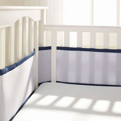 BreathableBaby® Deluxe Breathable Mesh Crib Liner in Navy
