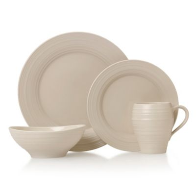 Swirl 4-Piece Place Setting in Cream