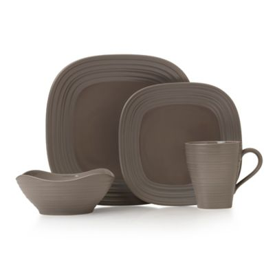 Mikasa® Swirl Square 4-Piece Place Setting in Mocha