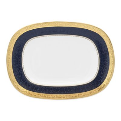 Noritake® Odessa Cobalt Butter/Relish Tray in Gold