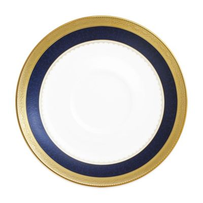 Odessa Cobalt Saucer in Gold