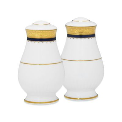 Noritake® Odessa Cobalt Salt and Pepper Shakers in Gold